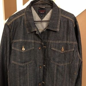 Tommy Hilfiger Mens Size L Denim Jacket Jean Coat